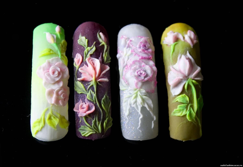 23 фото маникюр с выпуклым рисунком красивый дизайн ногтей 45